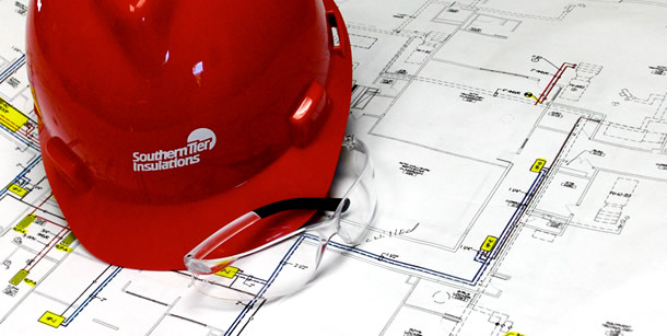 Hard Hat & Blueprint